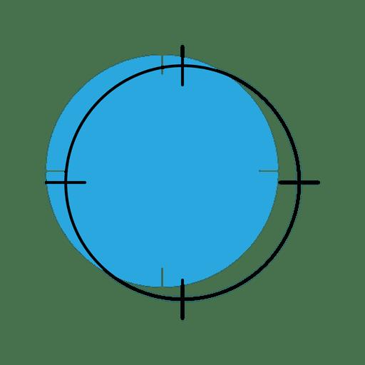 Ícone de localização de segmentação Transparent PNG