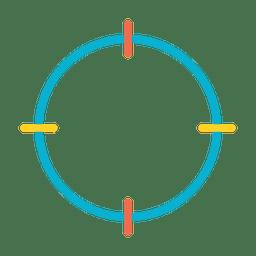 Ícone de localização de alvo colorido