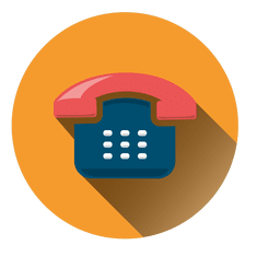 Icono de ronda de sombra de teléfono