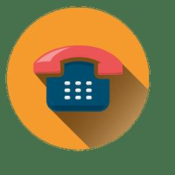 Teléfono gota sombra ronda icono