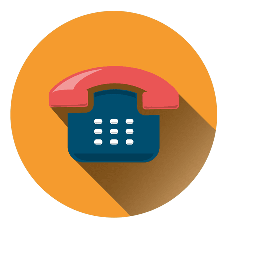 Telephone drop shadow round icon Transparent PNG