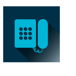Telephone square icon