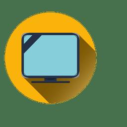 ícone redondo de televisão