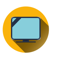 Fernsehen rundes Symbol