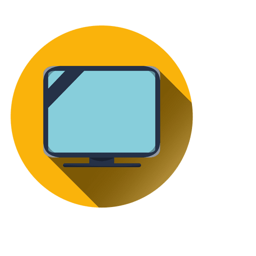 Television round icon Transparent PNG