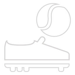 Tennis ball boot icon