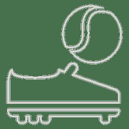 Tennisball Stiefel Symbol