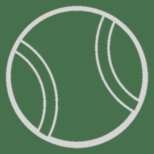 Icono de pelota de tenis Transparent PNG