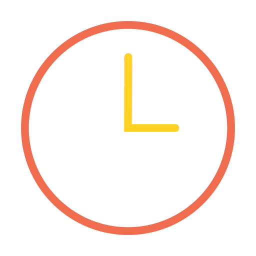 time clock stroke icon transparent png svg vector