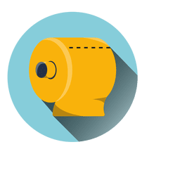 Toilet tissue round icon