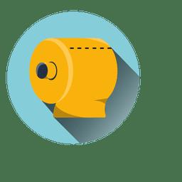 Toilettenpapier Runde Symbol