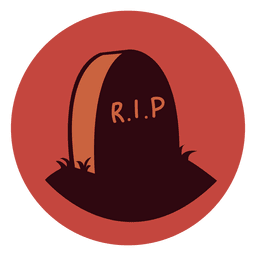 Tombstone rip circle icon