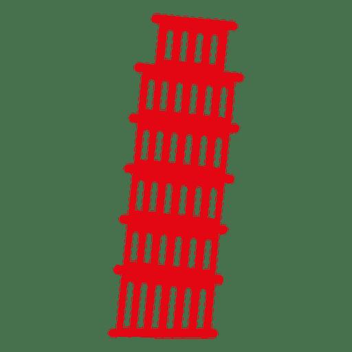 Tower of pisa skyline Transparent PNG