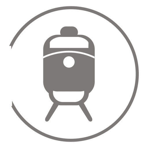 Train circle icon