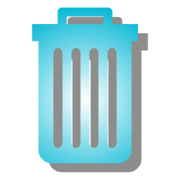 Gradient trash can icon