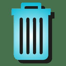 Icono de papelera de degradado