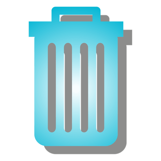 Gradient trash can icon