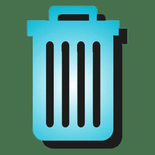 Icono de papelera degradado