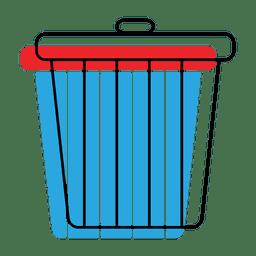 Icono de desplazamiento de papelera de reciclaje de basura