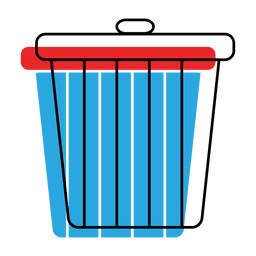 Trash recycle bin offset icon