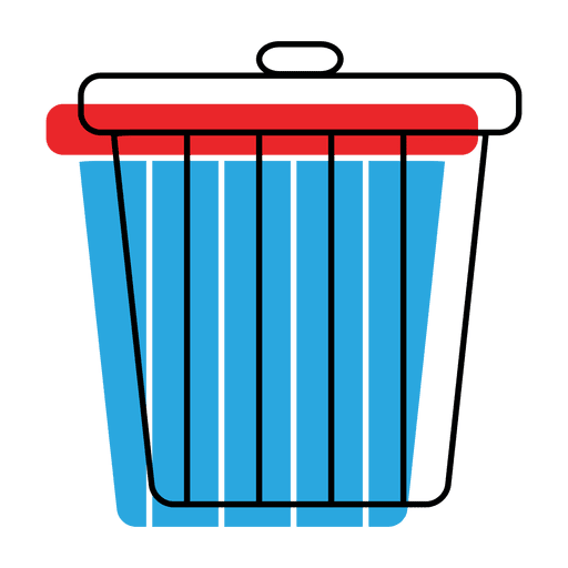 Trash recycle bin offset icon - Transparent PNG & SVG vector
