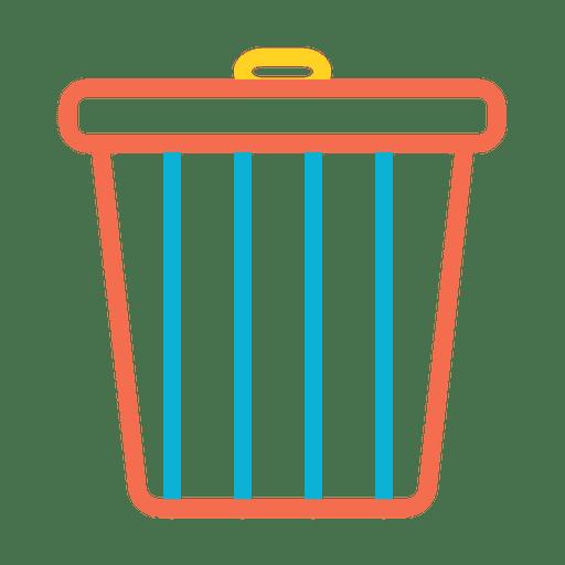 Trash recycle bin icon