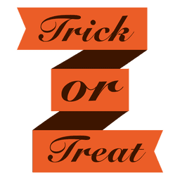 Trick or treat ribbon