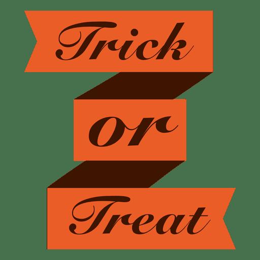 Trick or treat ribbon - Transparent PNG & SVG vector