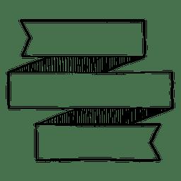 Doodle de cinta vertical triple
