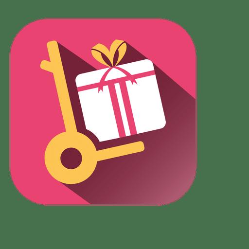 Icono cuadrado de trolly gift Transparent PNG