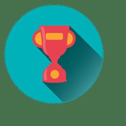 Icono de trofeo redondo