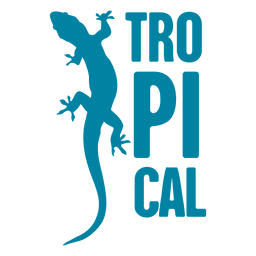 Tropical animal logo
