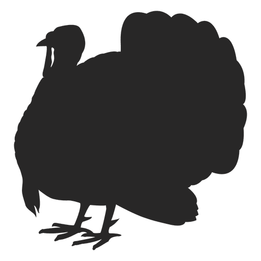Turkey standing silhouette - Transparent PNG & SVG vector file