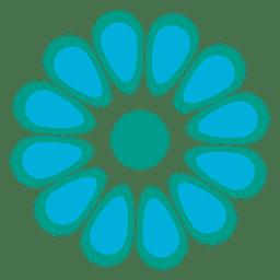 Türkis Blumen Symbol
