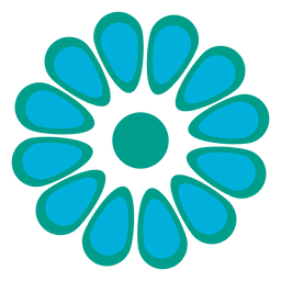 Turquoise floral icon