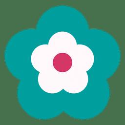 Icono de flor turquesa