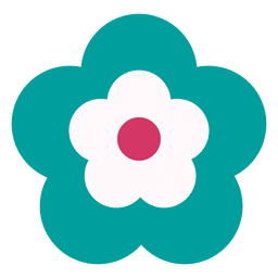 Turquoise flower icon