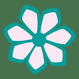 Turquoise flower icon 1