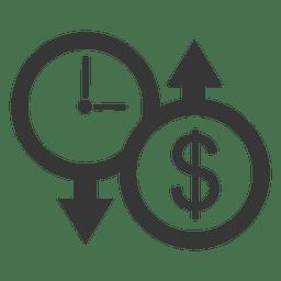 Arriba abajo reloj dolar