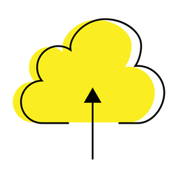 Ícone colorido da nuvem de upload