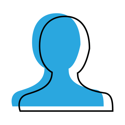User profile blue icon png