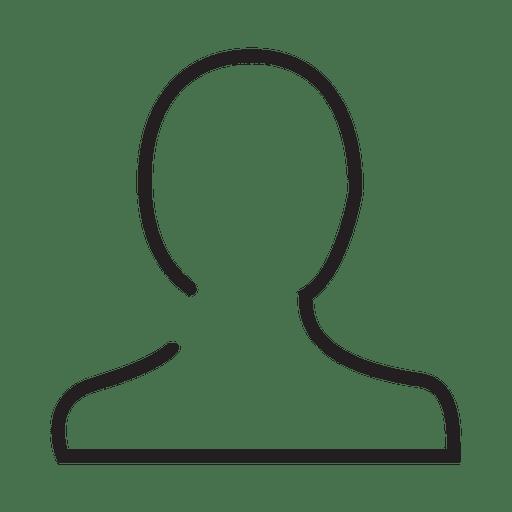 Icono de trazo de persona de usuario Transparent PNG