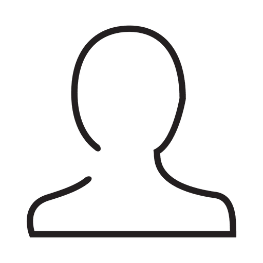 Usuario icono de trazo de persona Transparent PNG