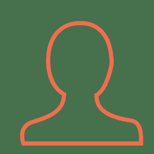Icono de persona de usuario naranja
