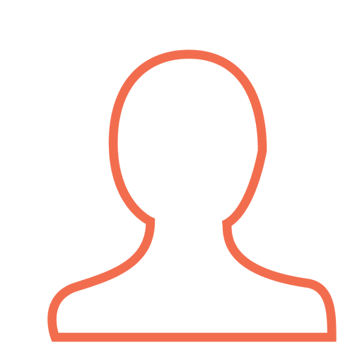 Orange user person icon Transparent PNG