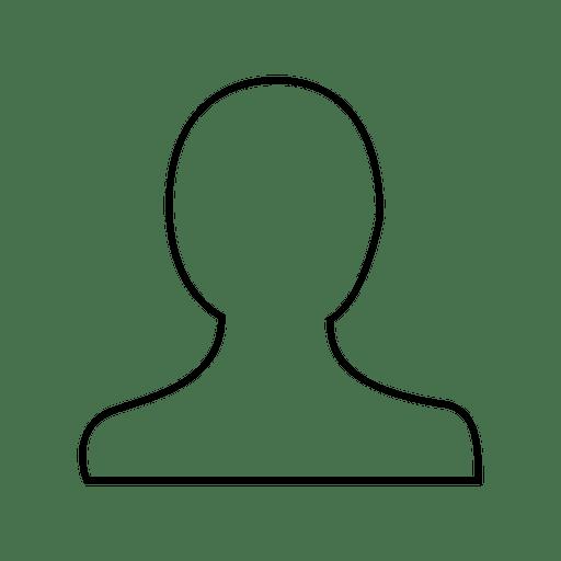Icono de delgada línea de persona de usuario