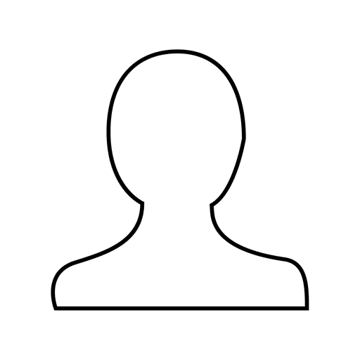 User person thin line icon