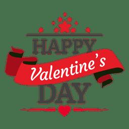 De San Valentín placa cinta día