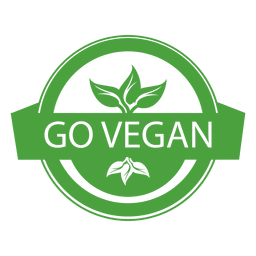 Vegan ecology label badge