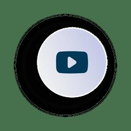 Ícone de círculo de vídeo